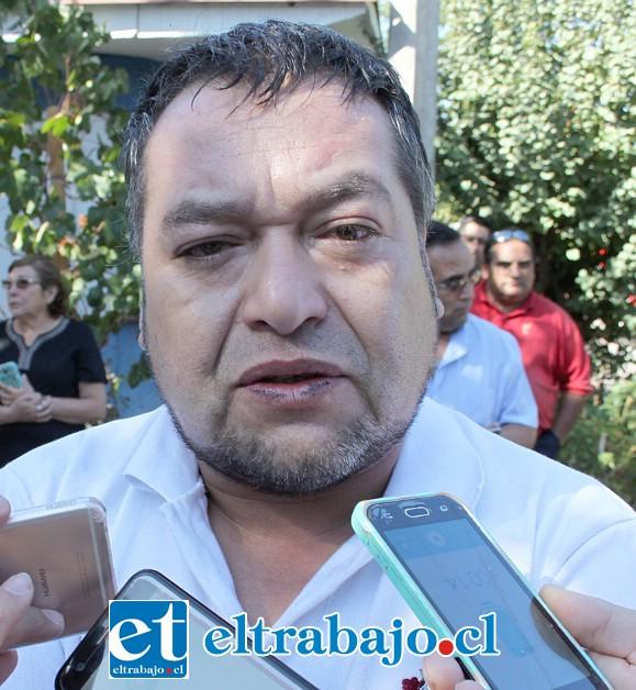 Iván Madariaga, dueño de la casa donde se produjo el incendio.