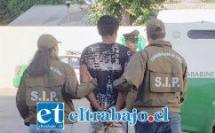 El ciudadano haitiano fue detenido por personal de la Sección de Investigación Policial SIP de Carabineros de San Felipe.