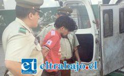 El imputado, de 24 años de edad, fue capturado por Carabineros de la Tenencia de Catemu, acusado de robo en lugar no habitado.