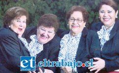 LAS MORENITAS HOY EN LA RUCA.- Ellas son las actuales y originales morenitas: Fanny Flores, Laura Yentzen, Emilia Ramírez e Isabel Fuentes.