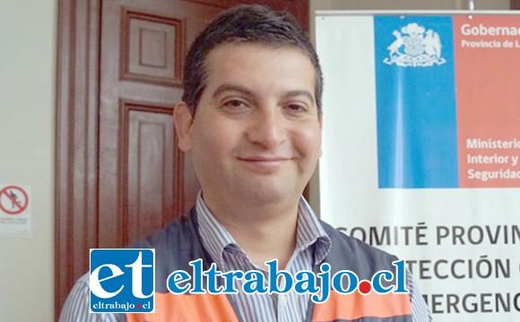 Director provincial de Emergencias, Carlos Álamos.