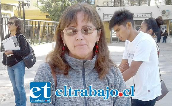 María Cuéllar, presidenta de la CUT provincial de San Felipe.