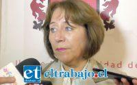 María Teresa Cerda, coordinadora de la Oficina Municipal de la Vivienda.