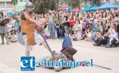 REGRESAN LOS VIKINGOS.- La Cuarta Feria Medieval se realizará en nuestra comuna a partir de las 11:00 horas y hasta las 21:00 horas del sábado. En la gráfica vemos a Varmesjord Recreación Vikinga.