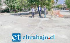 El alcalde Patricio Freire visitó el lugar al término de los trabajos, entregando al uso público esta importante intersección.