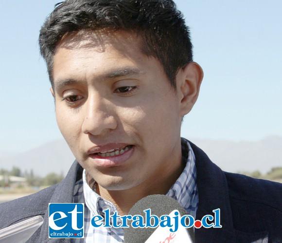 Presidente de la junta vecinal Portones del Inca, Nicolás Martínez.