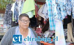 Marta del Pilar Estay, comerciante sanfelipeña a quien le han robado mercadería varias veces.