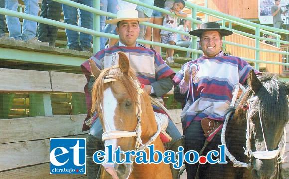 COLLERA SANFELIPEÑA.- La collera de Oscar Silva y Marcelo Gallardo nos representarán en Arica montando a Manojo y Pulga Brava.