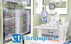 La nueva central de monitoreo es una de las tantas adquisiciones en equipamiento nuevo que luce el Hospital San Camilo de San Felipe.
