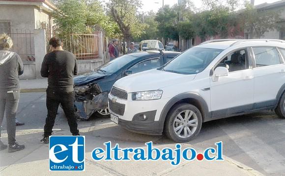 En esta posición quedaron ambos vehículos tras el accidente.