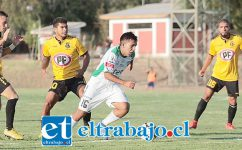 Por la Copa Chile Trasandino enfrentó en el Regional de Los Andes a San Luis de Quillota.