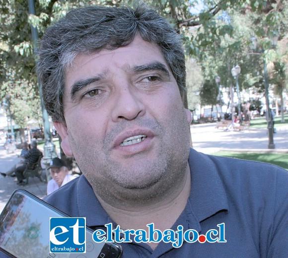 Marcelo Castro,  presidente de la Asociación  de  Fútbol  de   Los Andes.