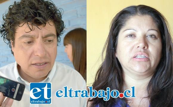 Director de la Escuela Manuel Rodríguez, Cristian González Cruz. Pamela Osorio, abuela del niño en problemas.