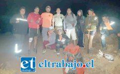 Los excursionistas regresaron a salvo gracias a la coordinación efectuada por Carabineros de San Esteban.