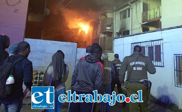Al lugar concurrieron varias compañías de bomberos, tanto de San Felipe como de otras comunas aledañas.