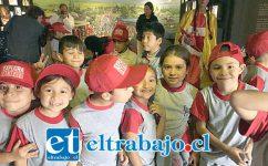 LA GRAN AVENTURA.- De seguro, estos pequeñitos tendrán mucho para contar a sus compañeros de clases en el Liceo Darío Salas.
