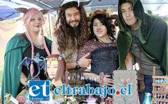 MUNDO MÁGICO.- Muchos personajes mágicos llegaron al evento desarrollado en el Centro Cultural Pedro Aguirre Cerda.