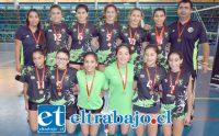 VAN POR MÁS.- Estas jovencitas ya están en las mejores ligas del vóleibol nacional, les deseamos la mejor de las suertes este año.