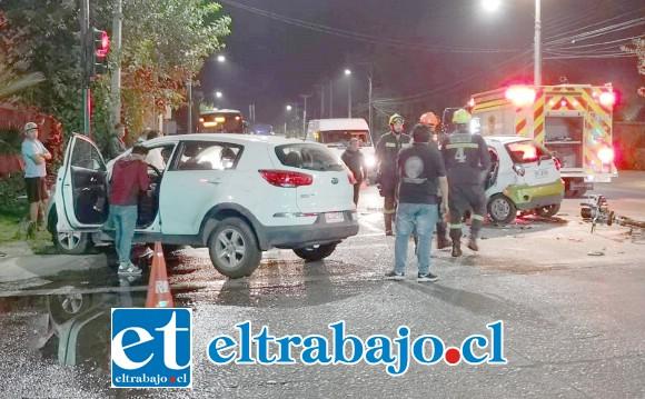 Personal de Carabineros, Bomberos y del SAMU se hicieron presente en el lugar de la emergencia registrada a eso de las 20 horas de este miércoles.
