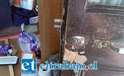 El o los delincuentes violentaron las puertas de acceso de la Cruz Roja ubicada en Calle Prat de San Felipe.