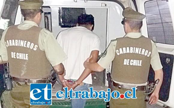 El entonces imputado fue capturado por Carabineros tras la denuncia de robo efectuada por la víctima en enero del año pasado. (Foto Archivo).