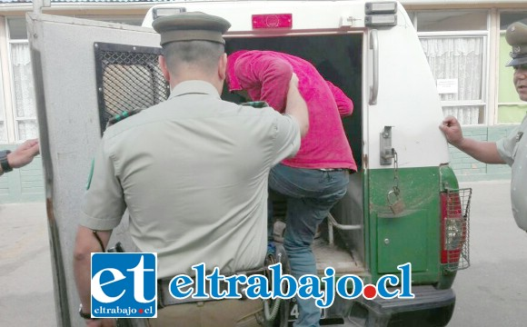 El sentenciado deberá cumplir las penas impuestas por el Tribunal Oral en Lo Penal de San Felipe en la cárcel. (Foto Archivo).