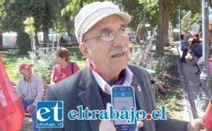 Alejandro Aguilar, dirigente de la CUT.