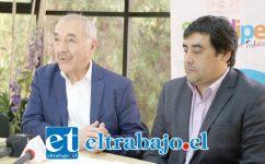 El alcalde Patricio Freire junto al Secplac Claudio Paredes destacaron la importante inversión que representan ambos proyectos.
