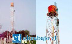 La impactante imagen muestra al menor de 6 años sobre lo alto de la torre de 'telefonía celular camuflada', en un hecho que causó conmoción en la villa Portal Aconcagua.