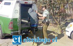 El adolescente de 17 años de edad fue detenido por Carabineros de la comuna de Santa María.