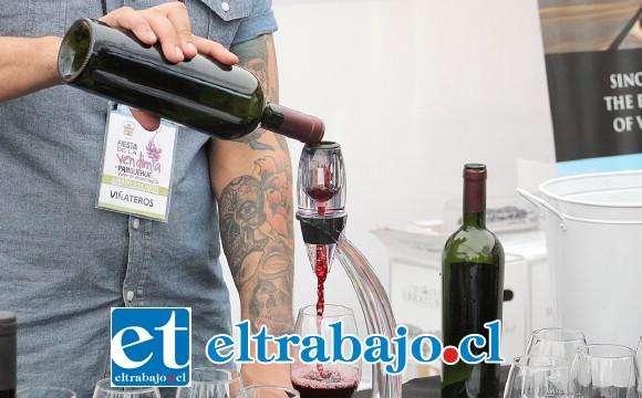 Los visitantes pudieron degustar la variedad de cepas de vino de nueve viñas ubicadas tanto en la comuna como en el resto de la región.