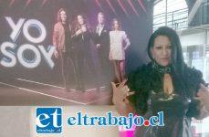 GRANDE EUGENIA.- Aquí la vemos en los estudios de Chilevisión, antes de su participación de anoche a nivel nacional.