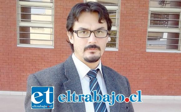 Fiscal Alejandro Bustos, especialista en delitos sexuales.