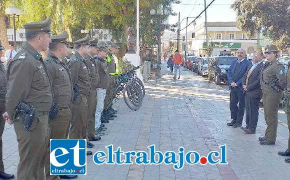 Personal de Carabineros redoblará las acciones destinadas a disminuir la delincuencia, sobre todo en el sector centro, señaló el gobernador Claudio Rodríguez.