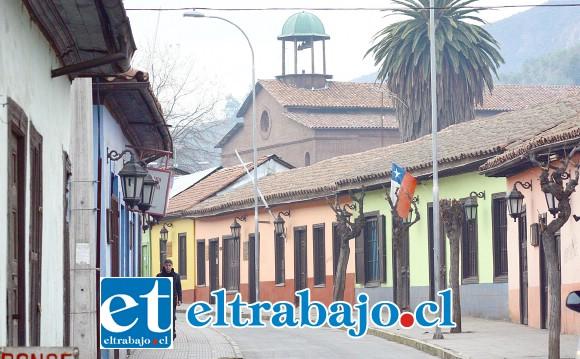 La tradicional Calle Comercio será la protagonista principal en la celebración del Día del Patrimonio en Putaendo. (Foto de Jorge Menares)