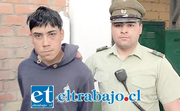 El 'Santi' fue capturado dos veces por Carabineros tras haber cometido cuatro delitos en menos de 24 horas en la comuna de Llay Llay.