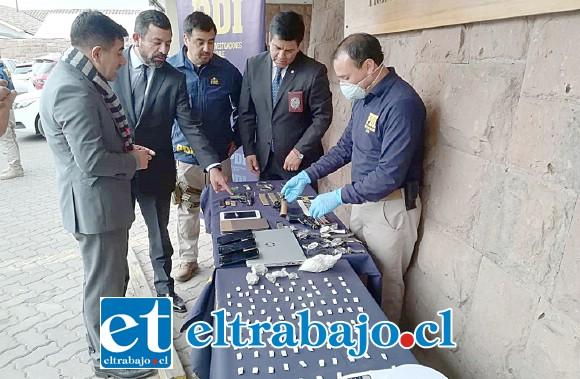 La Policía de Investigaciones efectuó un amplio operativo en búsqueda de la banda delictual domiciliada en la Villa 250 Años de San Felipe.