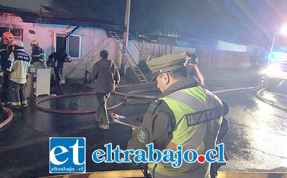 VIENE LA AYUDA.- Luego de este desastre el Municipio de Santa María anunció intervenir para ayudar a los damnificados a partir de hoy lunes.