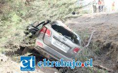 GRAVE ACCIDENTE.- La madre y sus hijos resultaron heridos en este volcamiento, ocurrido en Autopista Los Libertadores, uno de los menores se encuentra en estado grave internado en el Hospital San Camilo de San Felipe.