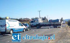 El accidente ocurrió en horas de la tarde de este miércoles en la ruta Troncal del sector El Escorial de Panquehue.