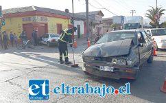 El accidente se originó la tarde de este sábado en la esquina de las avenidas Maipú con O'Higgins en San Felipe.