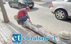 Las nuevas luminarias ya se han instalado en calle Prat y, durante estos días, se comenzó a instalar los de calle Salinas.