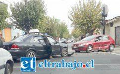 Así quedaron los vehículos tras el accidente de tránsito.