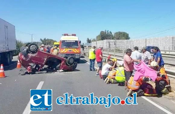 El trágico accidente ocurrió el 24 de febrero de este año en la Ruta 5 en Linares. (Fotografía: www.linaresenlinea.cl)
