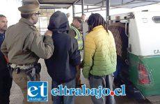 El delincuente fue capturado por transeúntes quienes circulaban por Calle Merced de San Felipe, para luego entregarlo a Carabineros.