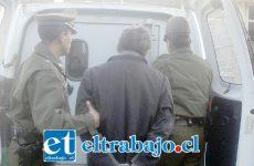 El detenido será derivado el día de hoy viernes hasta el Juzgado de Garantía de San Felipe por el delito de robo en lugar no habitado. (Foto Referencial).