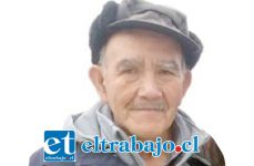 Don Manuel Gallardo Flores, quien era intensamente buscado por familia y vecinos, finalmente se encontraba internado en el Hospital San Camilo de San Felipe.