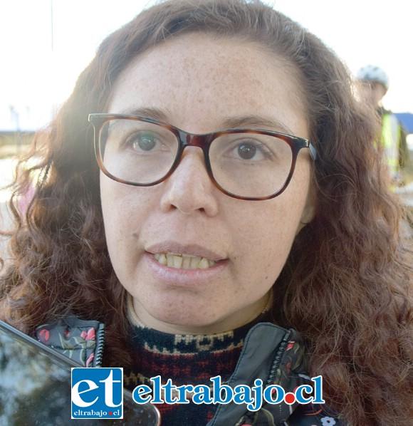 Cicely Arancibia, profesora de lenguaje de la Escuela JFK, de San Felipe.