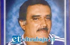 Ángel Gaspar Ríos Silva, banquetero aconcagüino que será recordado este sábado 6 de julio.