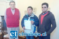 Rolando Stevenson Velasco, Jorge Maldonado y Francisco Díaz, éstos últimos afectados.